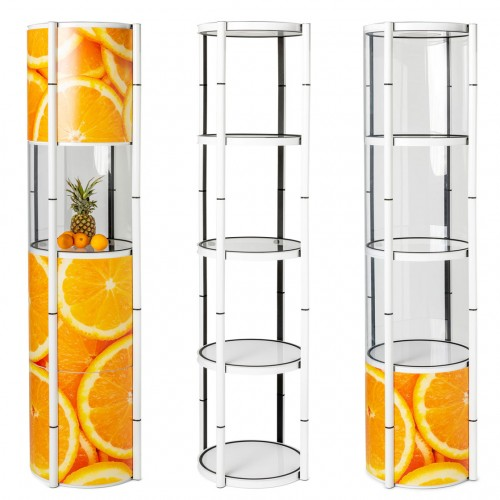 Flex tower vitrine pliable