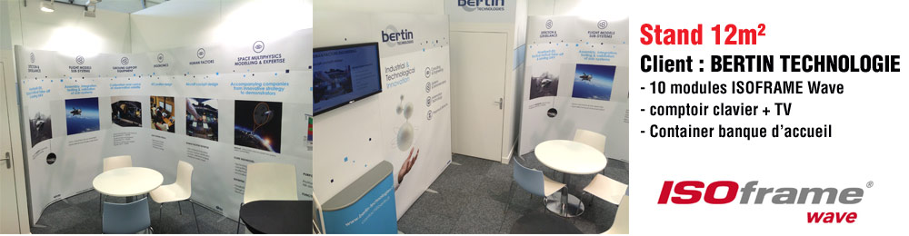 stand modulaire ISOframe Bertin Technologie