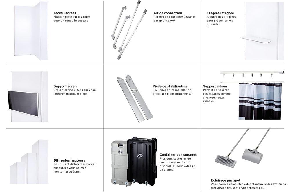 accessoires stand parapluie premium