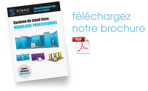 brochure stand modulaire