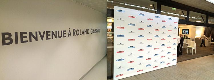location de photocall pour Rolland Garros
