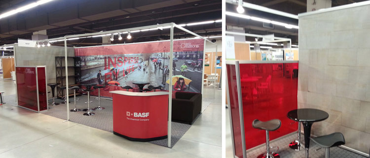Stand BASF au salon Cosmetagora