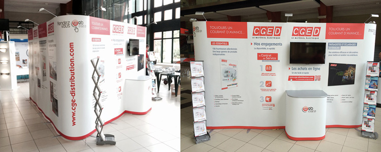 montage du stand CGED