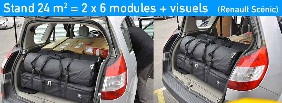 stand transportable en voiture