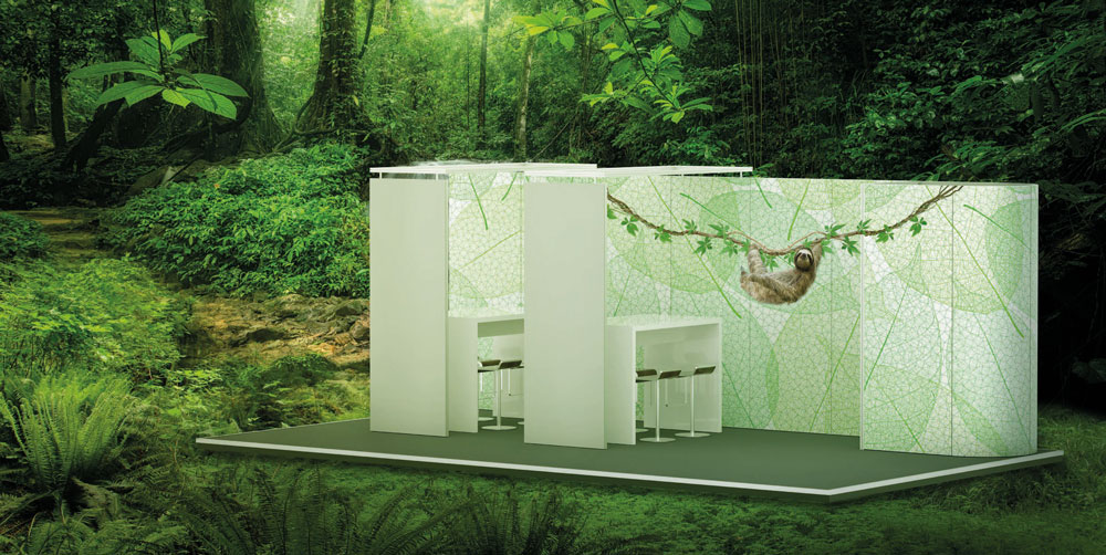stand modulaire recyclable