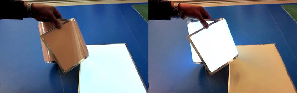 visuel électroluminescent souple