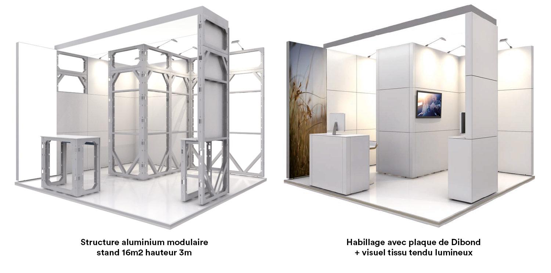 habillage stand modulaire aluminium